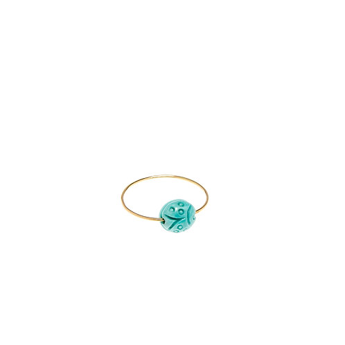 Marine Or Turquoise bleu coccinelle