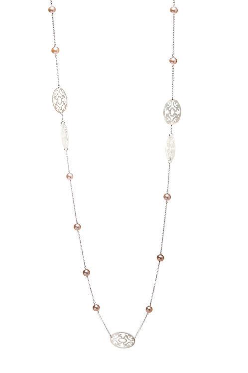MARCIA nacres blanches et perles roses