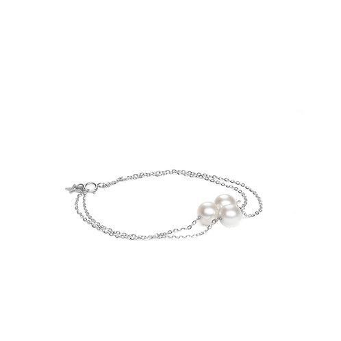 Bracelet MIRA double rang Argent