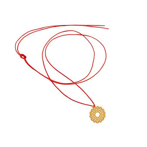 Collier Fil pendentif fleur Vermeil