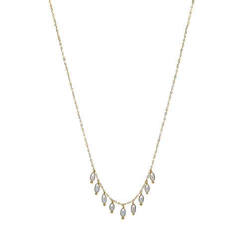 BELLA Vermeil perles grises