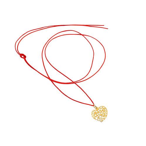 Collier Fil pendentif coeur Vermeil