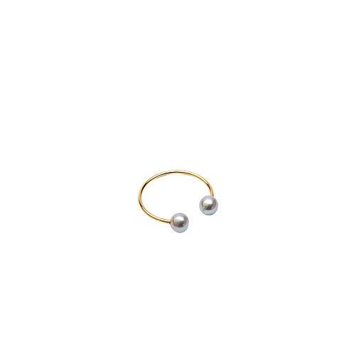 Zaza Or Jaune Mini perles grises