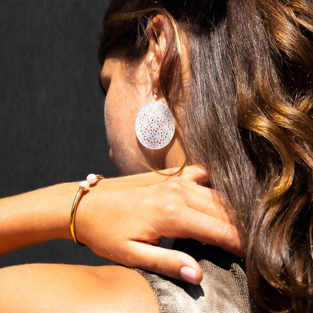 Boucles d'oreilles NADINE et Bracelet FANNY