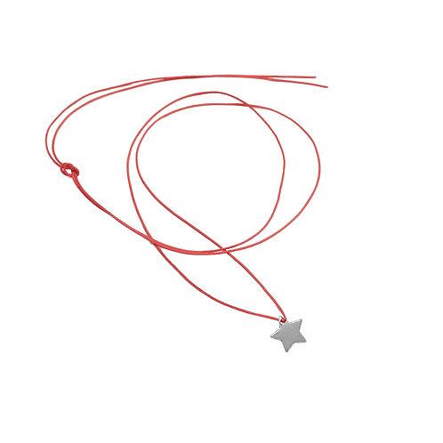 Collier Fil pendentif étoile Argent