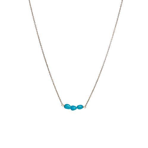 "Ras de cou Turquoises ""Sleeping Beauty"" Or 18K"
