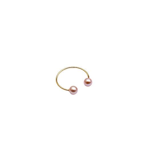 Zaza Or Jaune Mini perles roses