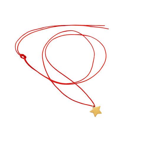 Collier Fil pendentif étoile Vermeil