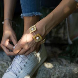Bracelet JULIA nacres jaunes