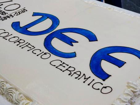 Def compie 40 anni di attività nel settore ceramico!