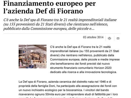 Finanziamento Europeo