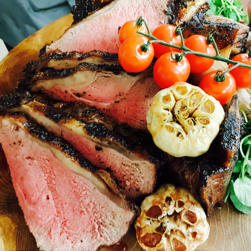 Barbecued striploin of beef