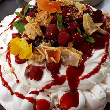 Sharing summer berry pavlova