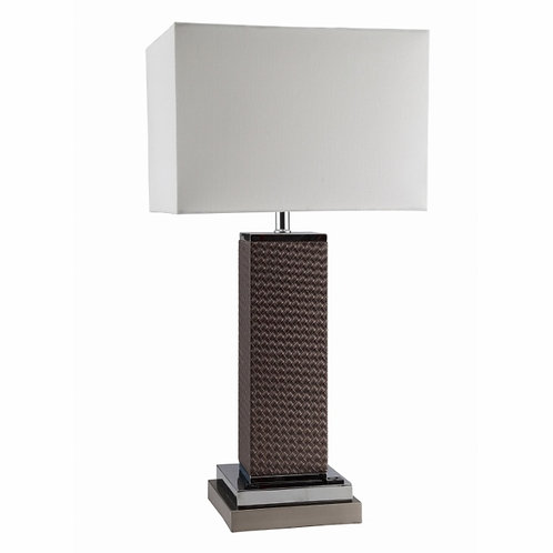 Leather Pillar Lamp 6244