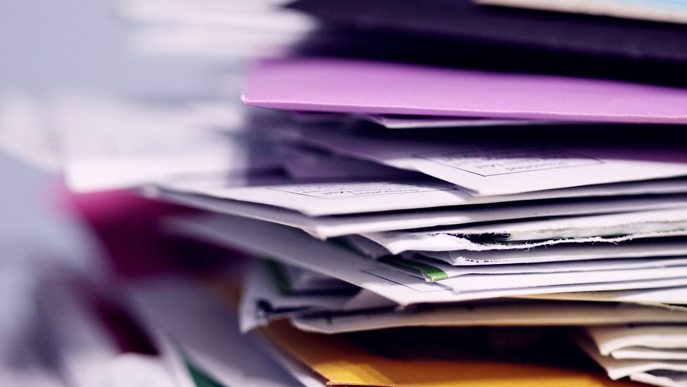 paperwork for inputting to accounting software
