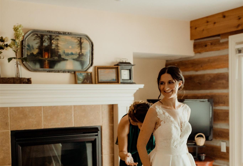 Rachel & Jared - Door County woodsy New Port wedding