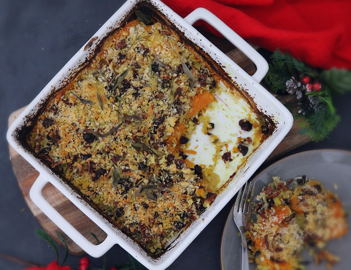SAVOURY SWEET POTATO CRUMBLE