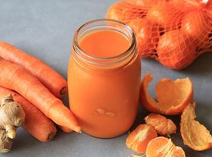 Flu busting Mandarin, Carrot, Turmeric a