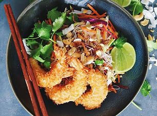 Coconut Lime Prawns with Lime & Coriande