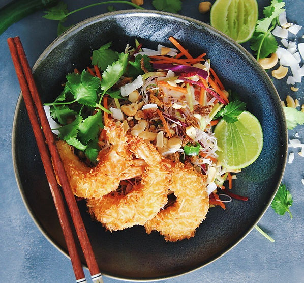 COCONUT LIME PRAWNS WITH LIME & CORIANDER
