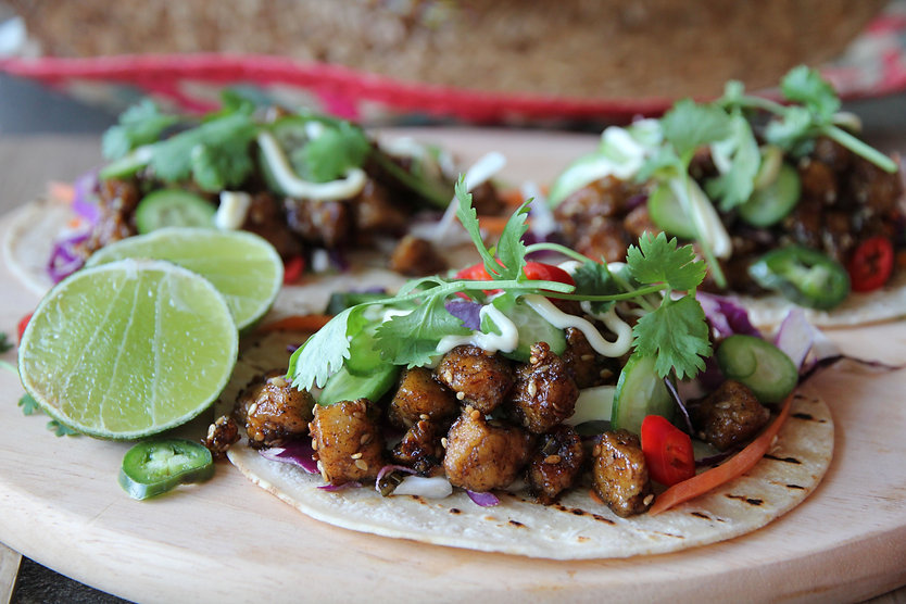 LIME & PEPPER TOFU TACOS