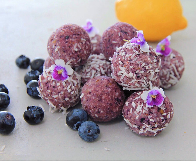 LEMON & BLUEBERRY BLISS BALLS