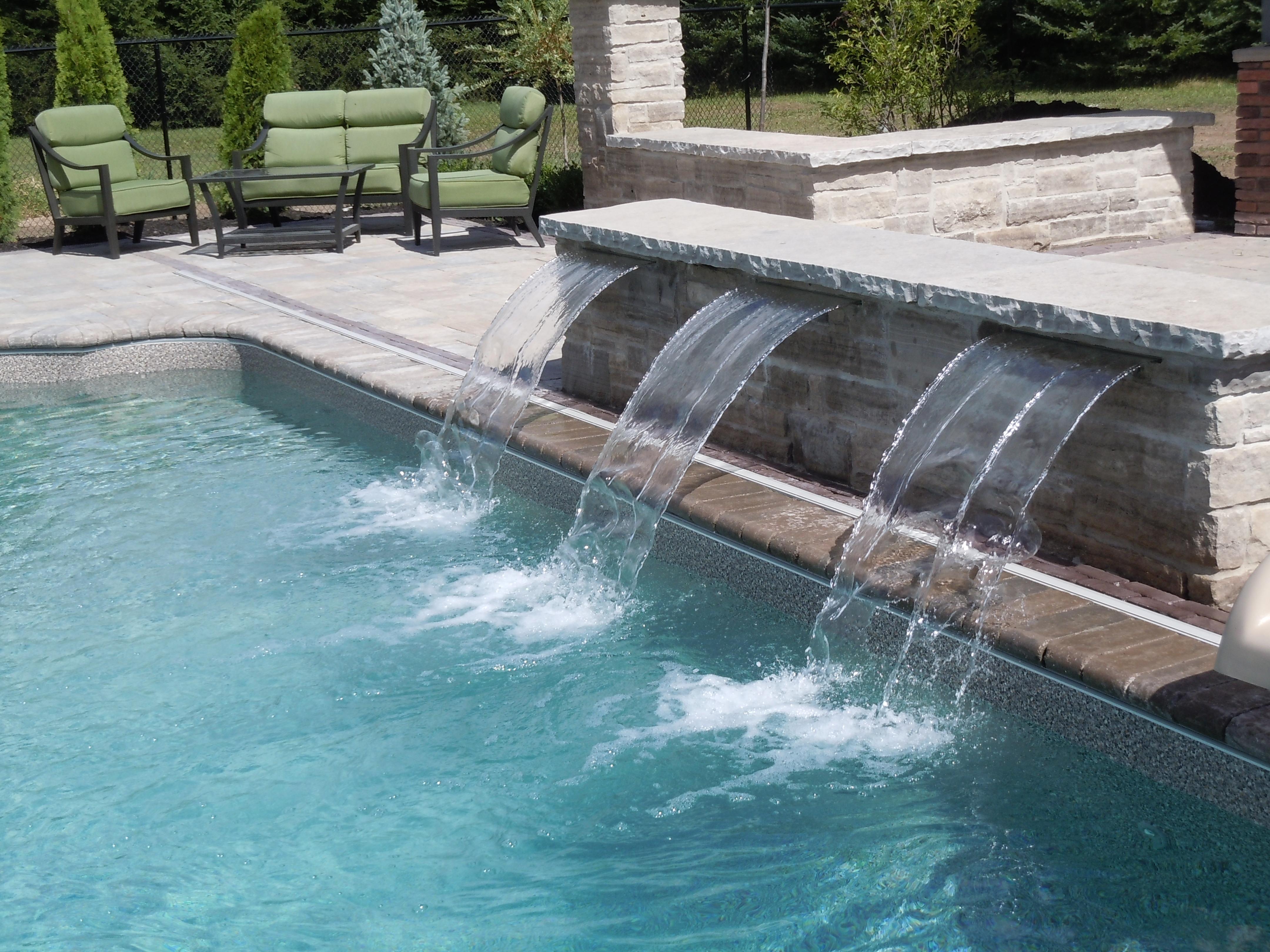 Pool Side Waterfall