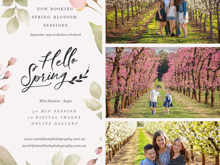 Now Booking Spring Blossom Photos at Raeburn Orchard