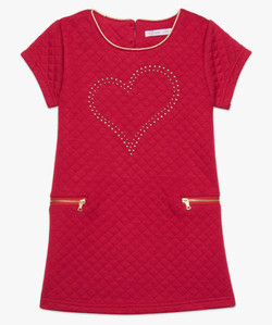 Cut and sewn knit dress