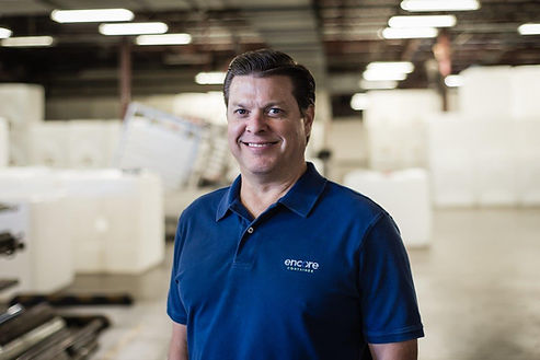 Encore Container offers new-bottle totes with reconditioned cages or totally reconditioned units. Chad Odom is CEO of Encore Container.