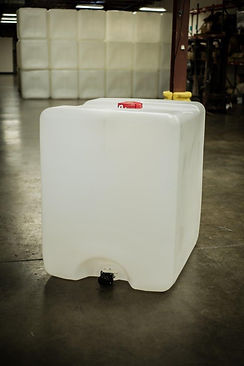 275 and 55 gallon tote bottles are made out of 100% virgin resin material.