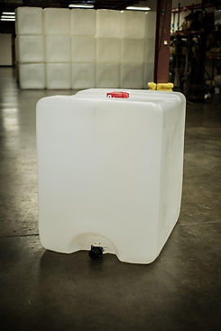 275 and 330 gallon tote bottles are made out of 100% virgin resin material.