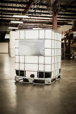 New and reconditioned IBC totes come in a variety of sizes.