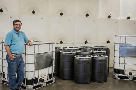 Encore Container manufactures 275 gallon and 330 gallon new bottles in house.