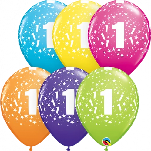 Printed Number latex balloon