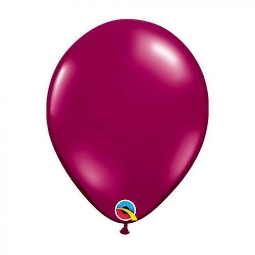 Single Sparkling Burgundy 28 cm latex helium filled