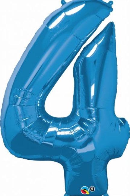 """Qualetex  Helium 34"""" Saphire Foil Number"""