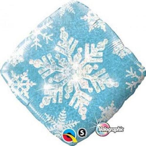 45 cm Glitter foil snowflake