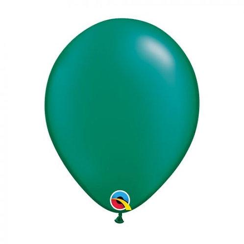 Single Pearl Emerald Green 28 cm latex helium