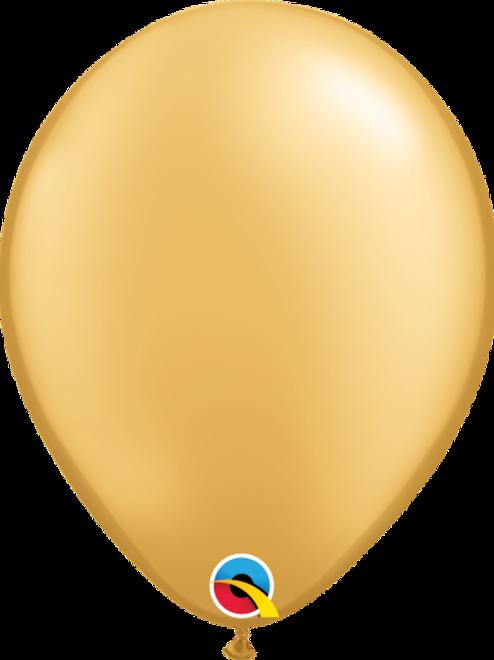 Single Metallic Gold 28 cm latex helium filled