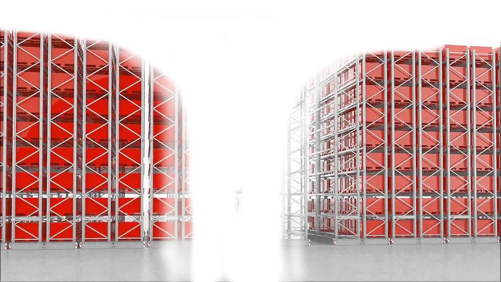 Scaffalature porta pallet, scaffali industriali nuovi, scaffali usat, scaffalature usate, layout di magazzino,  Magazzino e-commerce