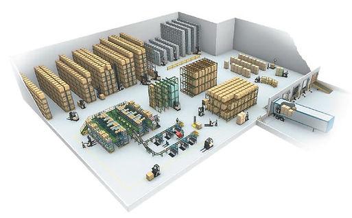 Scaffalature porta pallet, scaffali industriali nuovi, scaffali usat, scaffalature usate, layout di magazzino,  Magazzino e-commerce, gestione di magazzino, wms
