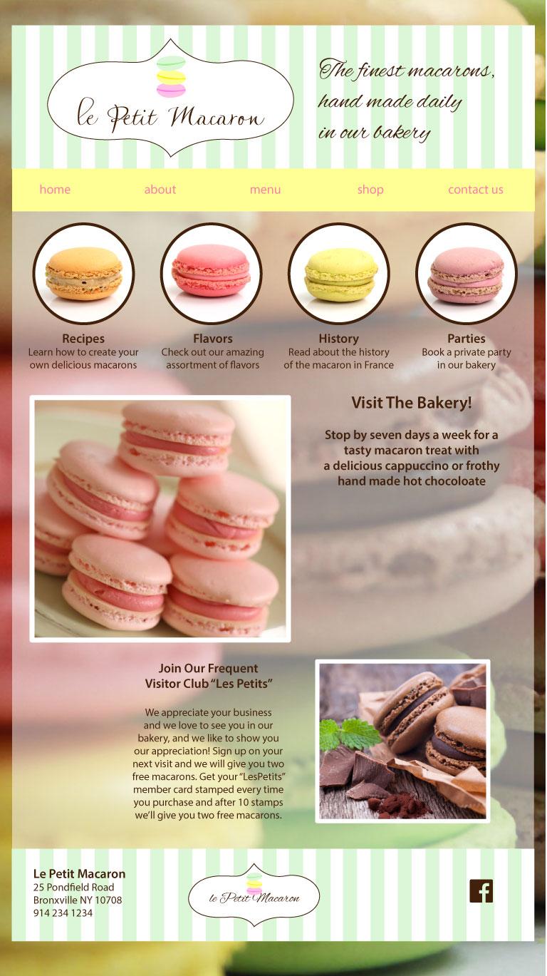 Le Petit Macaron | Website