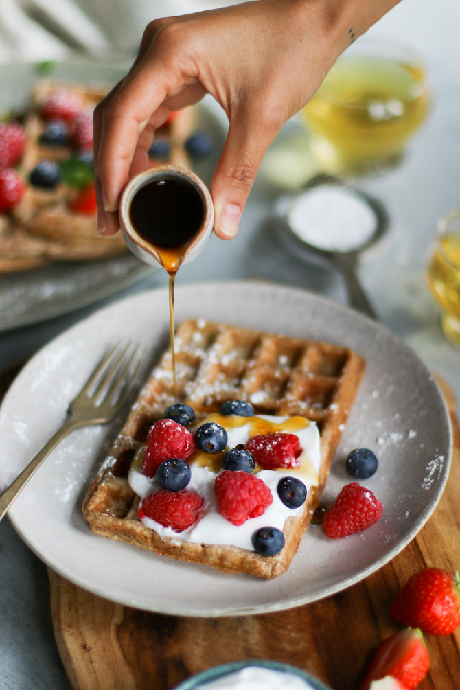 Vegan Breakfast Waffles