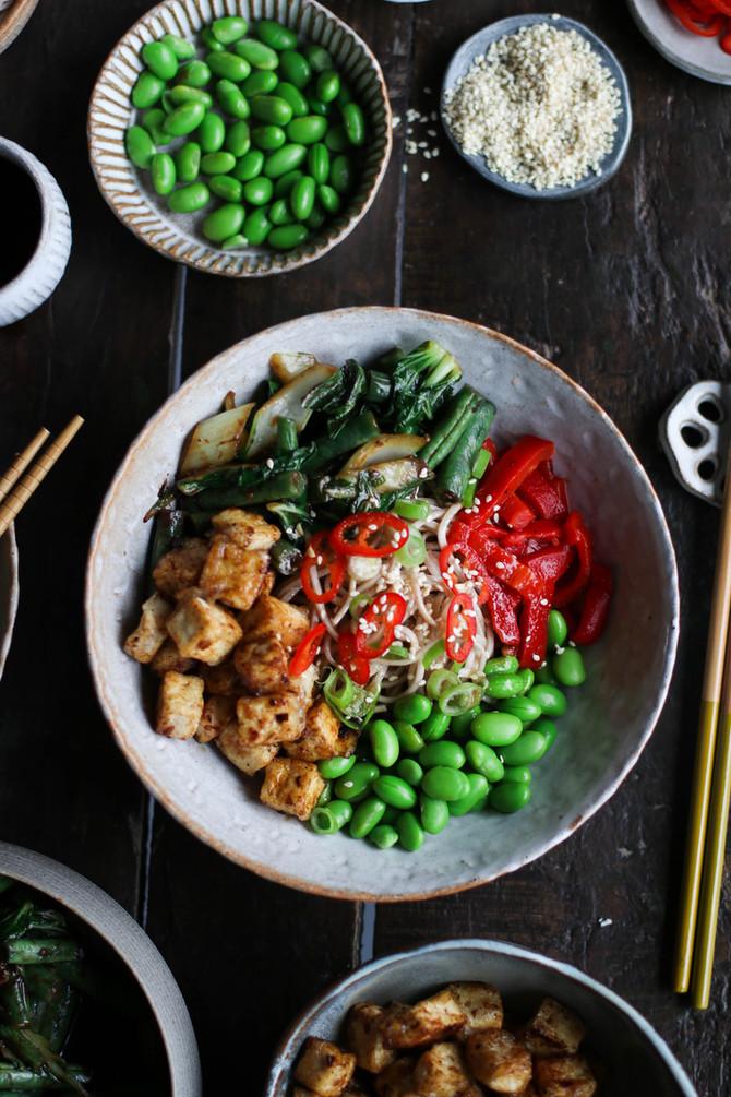 Black Bean Garlic Tofu Nourish Bowl