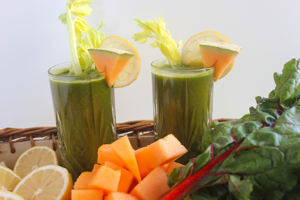 A green juice that tastes like melon juice - loads of vitamin C, A and K. Great idea to have if feeling like you're getting sick instead of taking Vitamin C tablets.