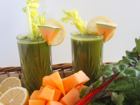Snow Melon & Rainbow Swiss Chard Green Juice