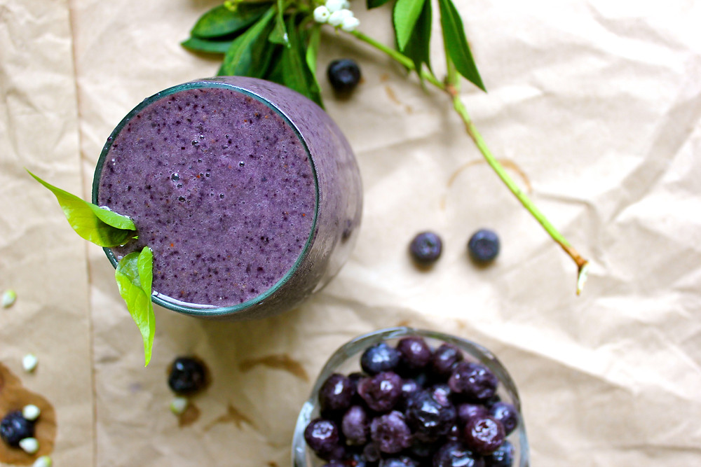 A creamy blueberry smoothie recipe you'll make over and over again - it's so easy!