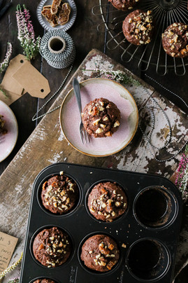 Spiced Walnut & Fig Muffins
