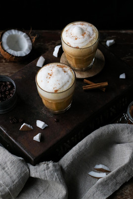 Cinnamon Coconut Cream Latte